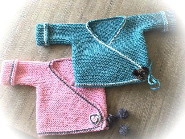 Babyjacke Stricken Erstlings Wickeljacke Gestrickte Babykleidung Baby Pullover Stricken Baby Jacke