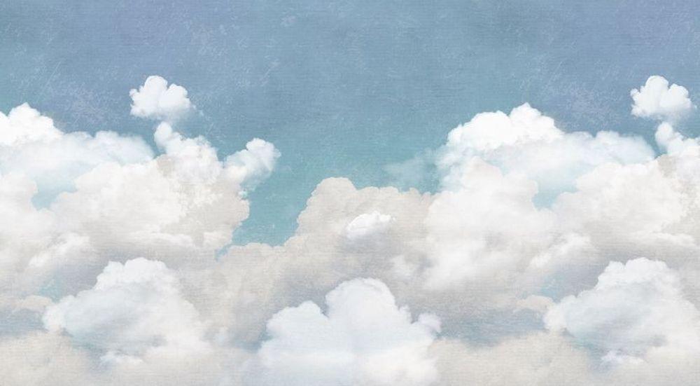 Tapet cu nori care arată ca o pictură murală   Adela Pârvu - Interior design blogger