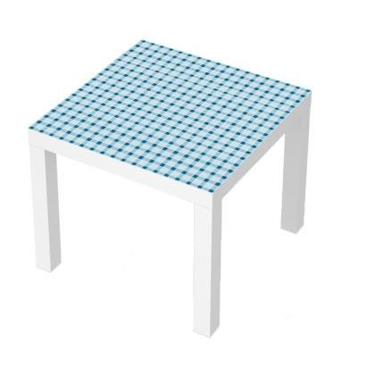 Stickers pour table basse lack 55x55 blue tiles fun design deco sticker - Deco pour table basse ...