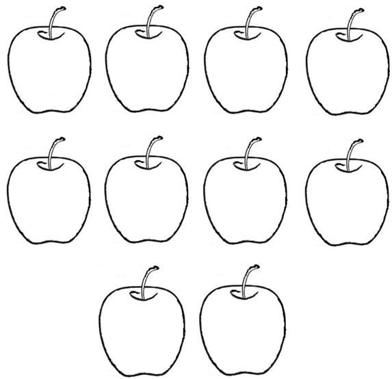 Small Apple Coloring Pages : Ten apples craftie school september pinterest