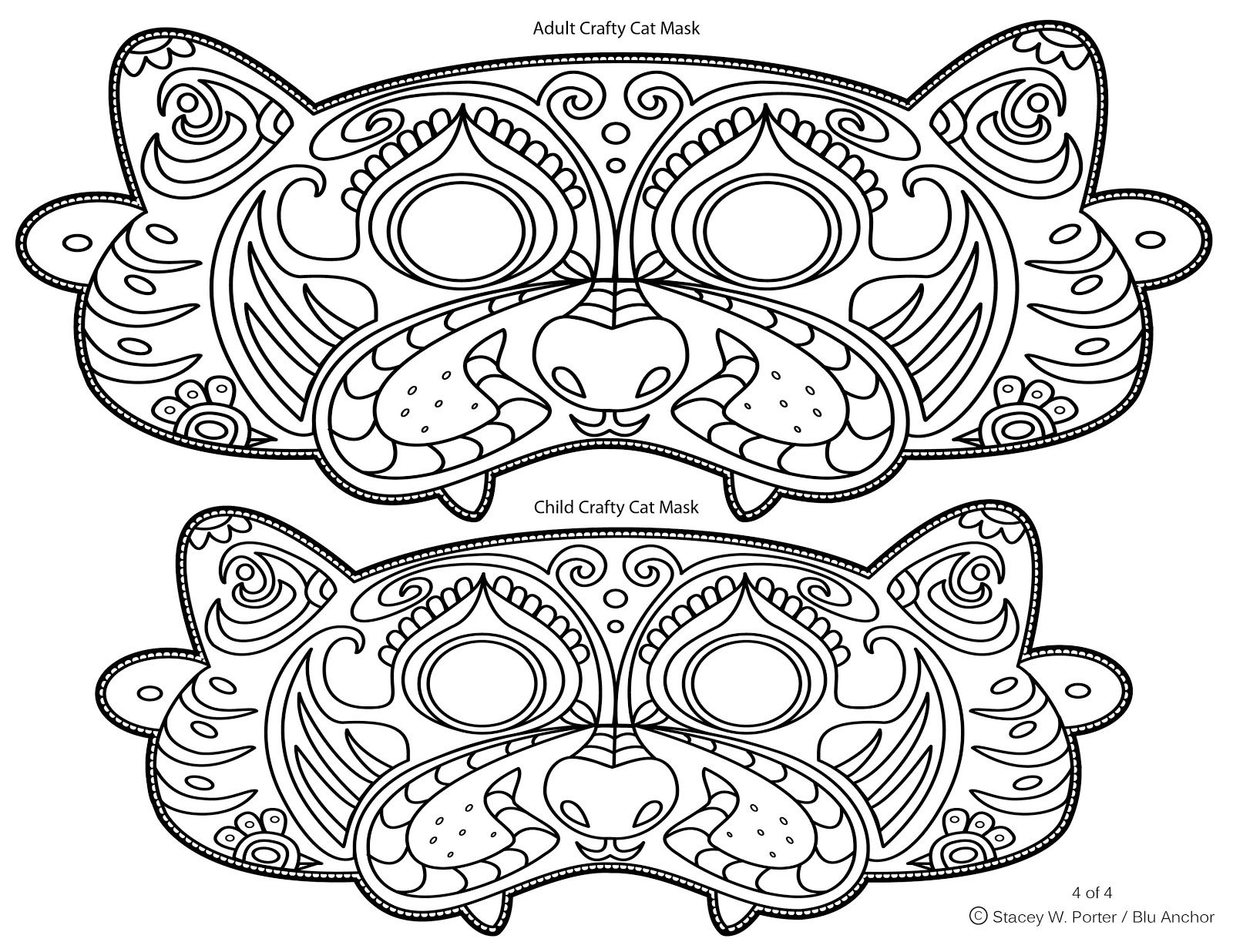 Free wearable Mask printable for adult and child. DIY