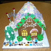 Free PDF Gingerbread House Patterns #gingerbreadhousetemplate