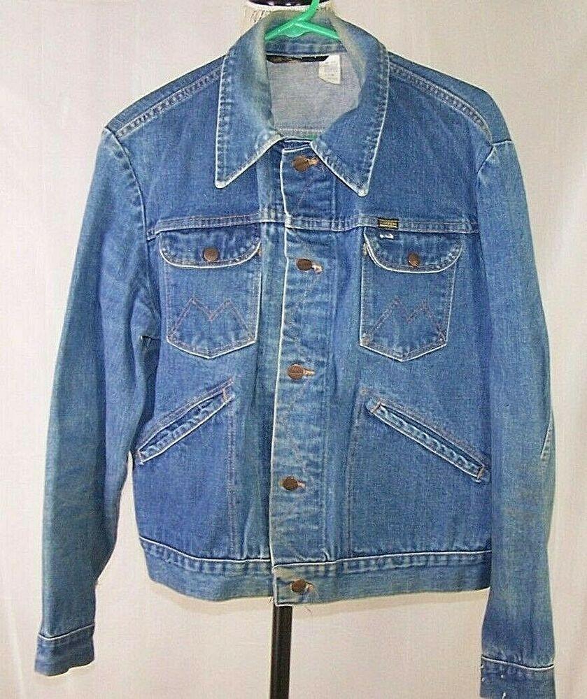 Wrangler Maverick Blue Bell Selvedge Vintage Denim Jean Coat Jacket Usa Men S 44 Maverick In 2020 Vintage Denim Jeans Coat Jackets Vintage Denim Jeans