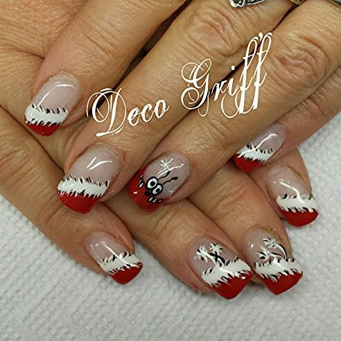 deco ongles gel noel