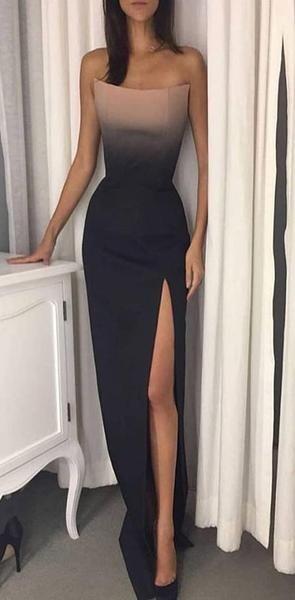 Unique Design Charming Elegant Long Side Split Prom Dresses, party evening dress, PD1004