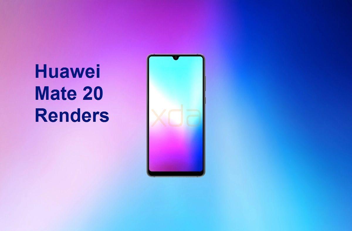 Huawei Mate 20 renders show water drop notch and triple