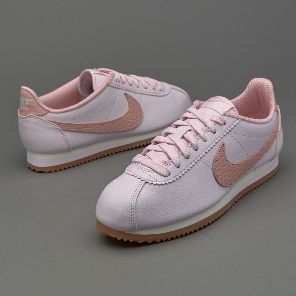Nike Sportswear Womens Classic Cortez Leather Lux  Pearl Pink