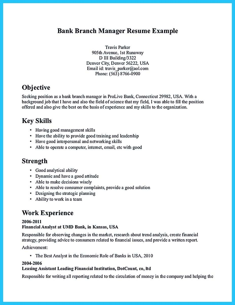 awesome starting successful career from a great bank manager resume check more at httpsnefciorgstarting successful career from a great bank manager