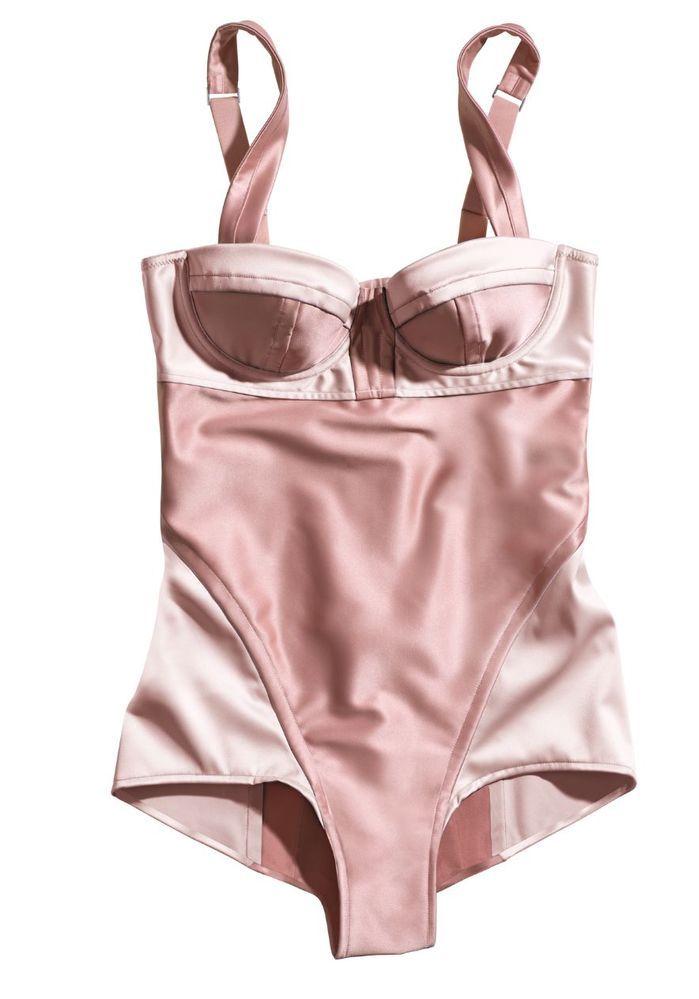 b5162bf9125f SONIA RYKIEL for HM Lingerie Bodysuit Teddy Pink Pajamas Size: 6 RARE