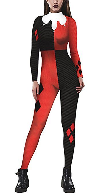 the best attitude bbb97 46e2e Jumpsuit Damen Halloween Karneval Horror Funny Clown Kostüm ...