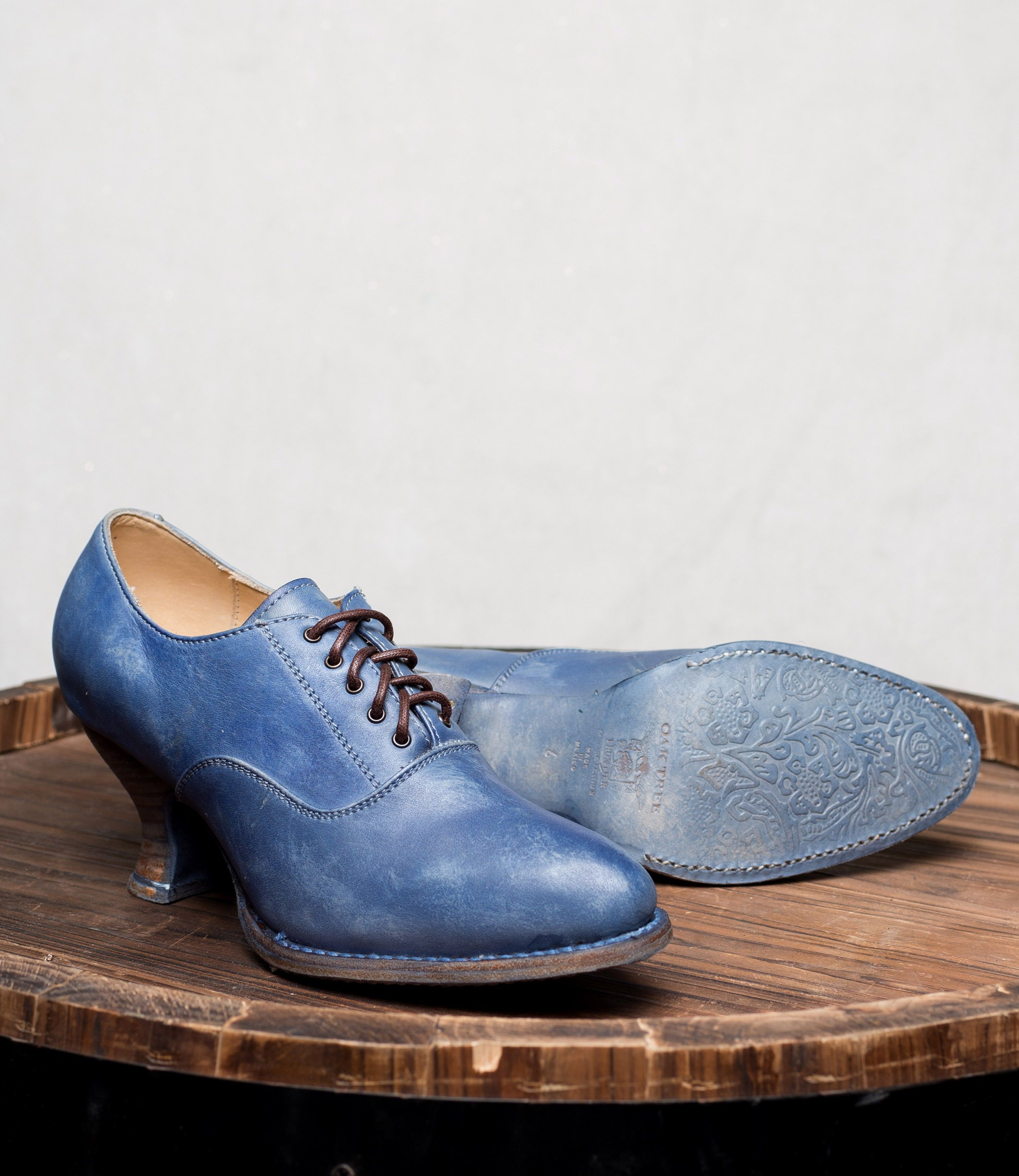 Victorian Style Leather Lace Up Shoes In Steel Blue Vintage Style Shoes Victorian Boots Leather And Lace
