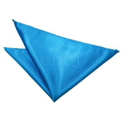 DQT Woven Floral Paisley Royal Blue Formal Handkerchief Hanky Pocket Square