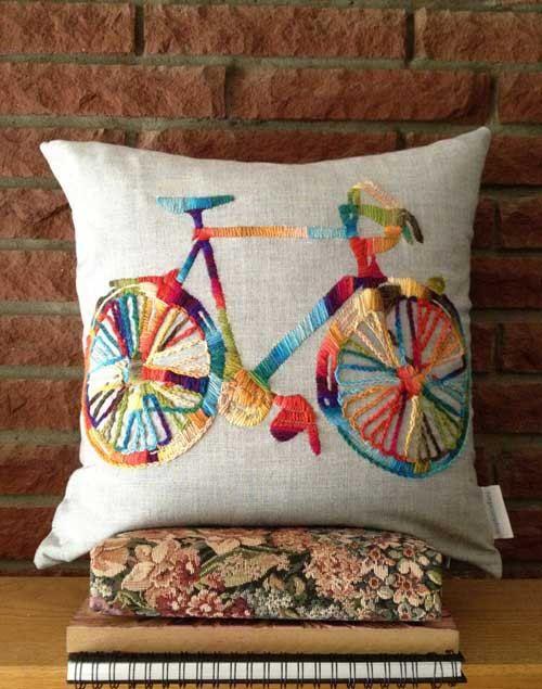 Bicicleta bordada | dibujos para bordar o pintar | Pinterest ...