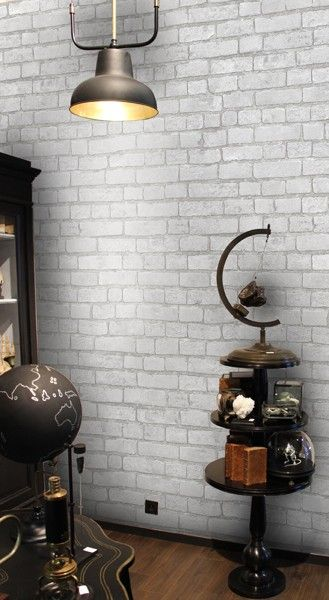 papier peint brique blanche papier peint effet mati re th mes decors papier peint. Black Bedroom Furniture Sets. Home Design Ideas