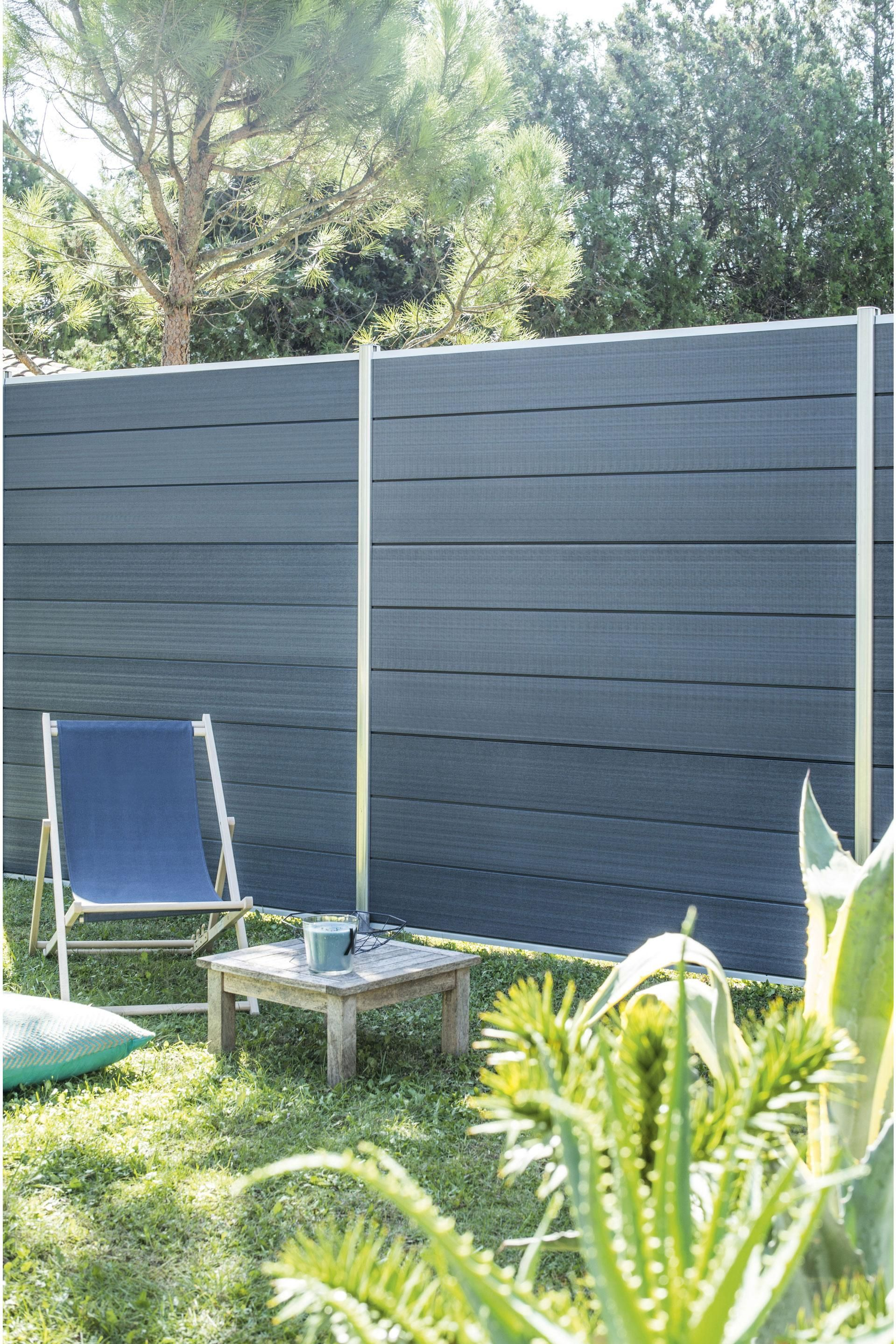 Cloture A Composer Plastique Marly Gris Products En 2019 Cloture Jardin Plastique Et Gris