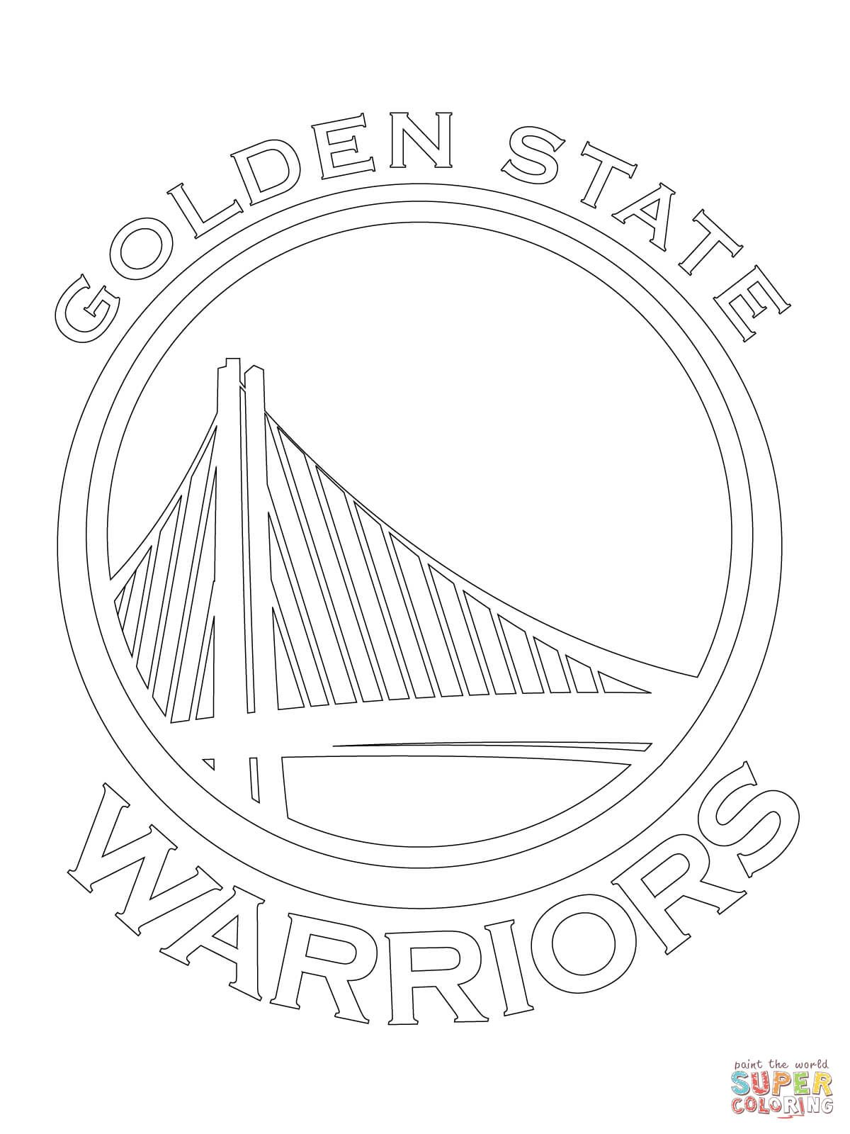 state warriors logo coloring page free printable coloring pages