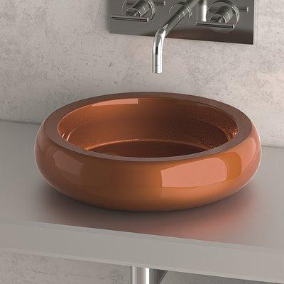 MaestroBath Eliza Metal Circular Vessel Bathroom Sink Sink Finish