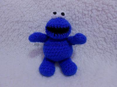 MarieCatmade: Mini Cookie Monster