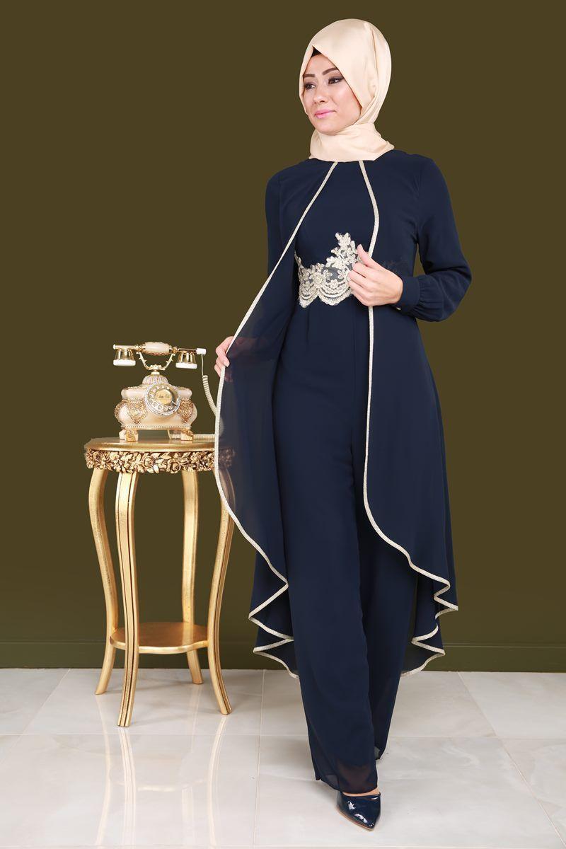 Gold Detay Sifon Abiye Tulum Ech7148 Laci Jumpsuitfashion In 2020 Fesyen Wanita Fesyen Baju Wanita