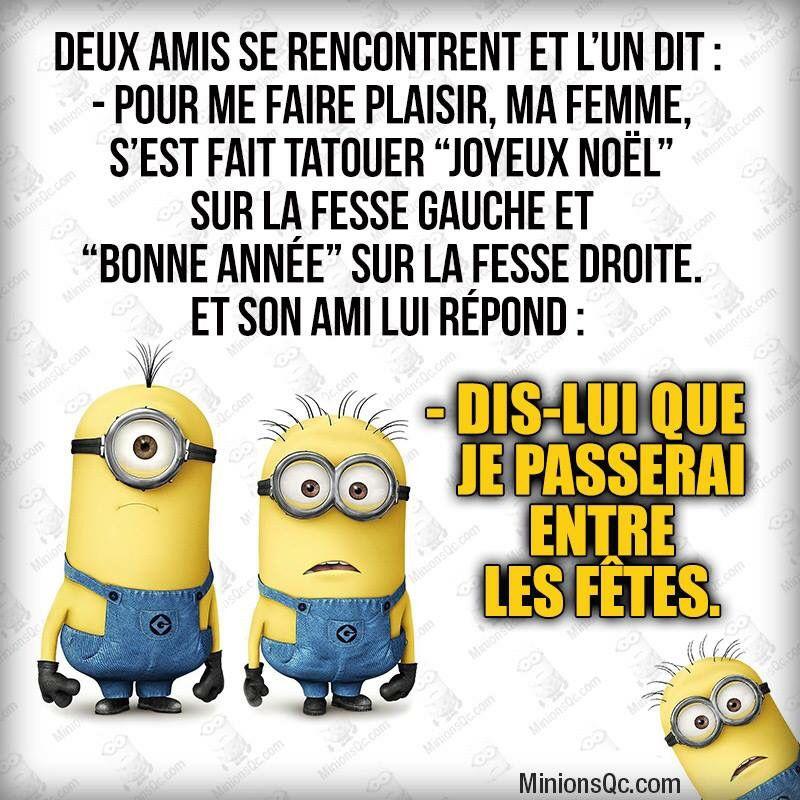Les minions blagues humour pinterest blagues en images blagues mignonnes et blague minion - Les minions bonne annee ...