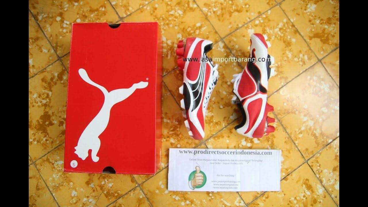 Sepatu Bola Puma V1 08 I Fg Red White Black 101455 02 Original