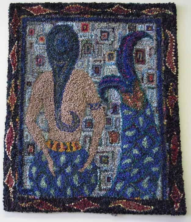 Hooked rug by Deanne Fitzpatrick