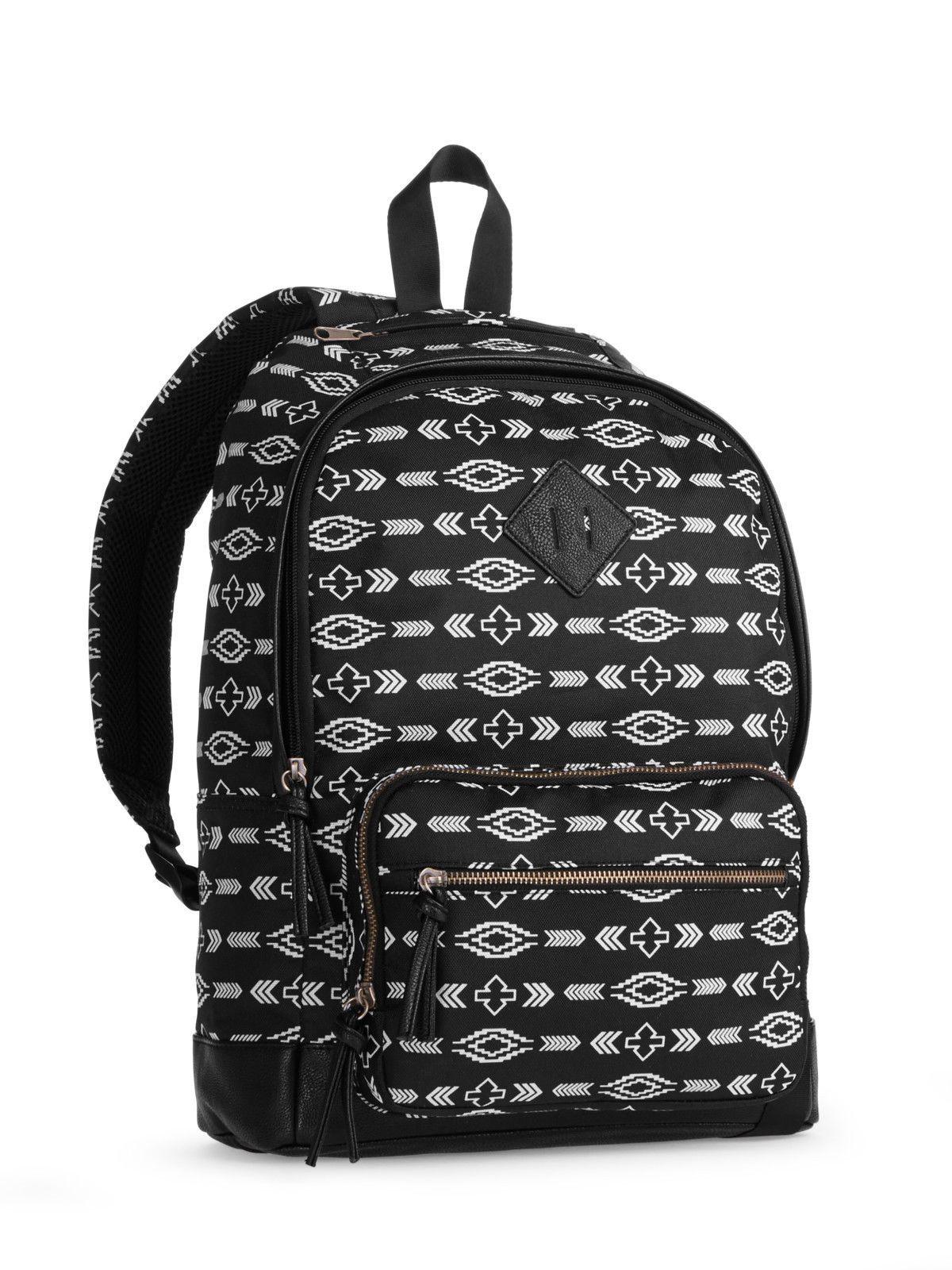 Black bag casual male backpacks school travel bag leather