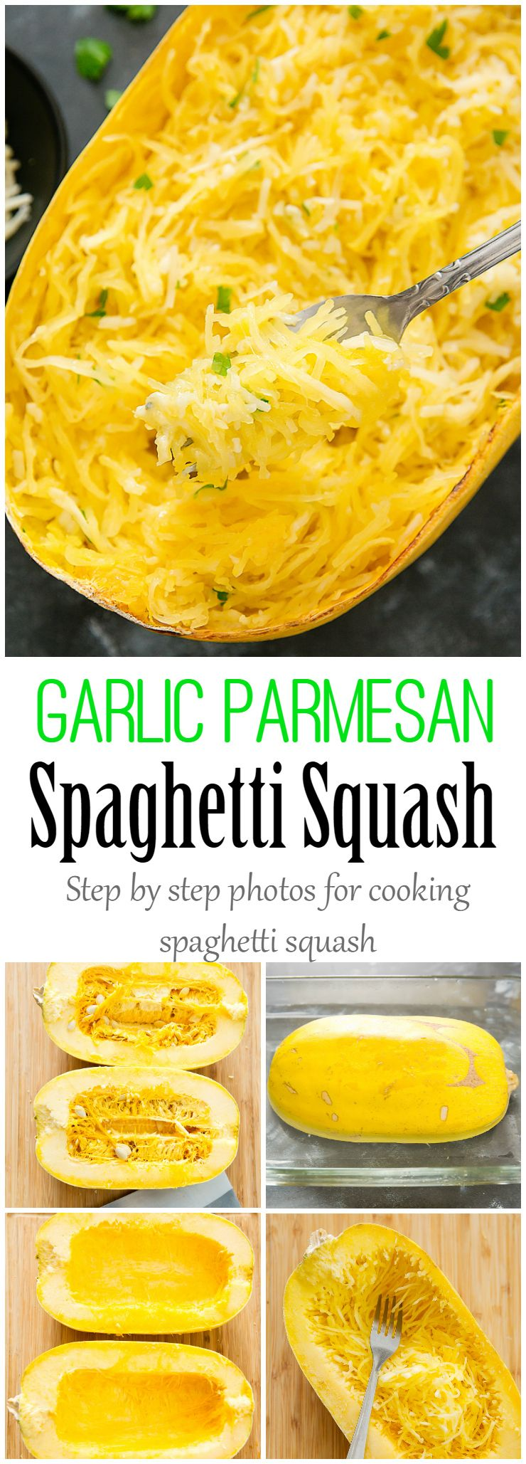 Garlic Parmesan Spaghetti Squash #spagettisquashrecipes