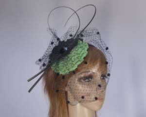 Green fascinator for Melbourne Cup races MA220