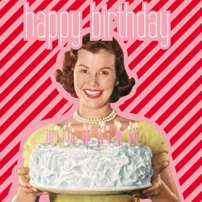 Hb Woman Vintage Happy BirthdaysVintage
