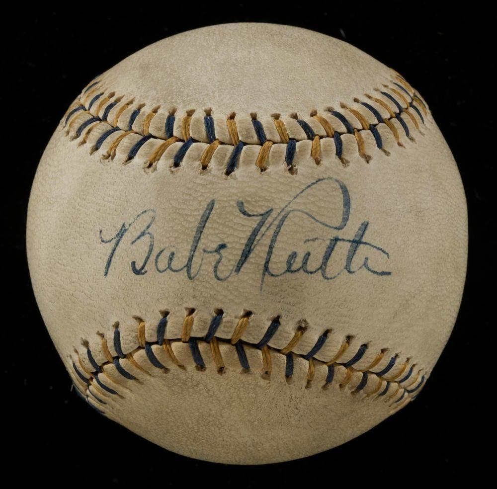 Spectacular Babe Ruth Single Signed Autographed Baseball With Jsa Coa Babe Ruth Babe Ruth Autograph Babe Ruth Baseball