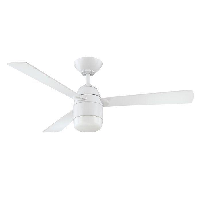 42 Schreffler 3 Blade Ceiling Fan With Remote Ceiling Fan With Light White Ceiling Fan Ceiling Fan