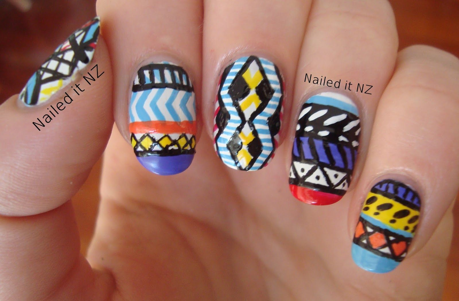 Crazy Cool Nail Art Nails Pinterest Aztec Nails