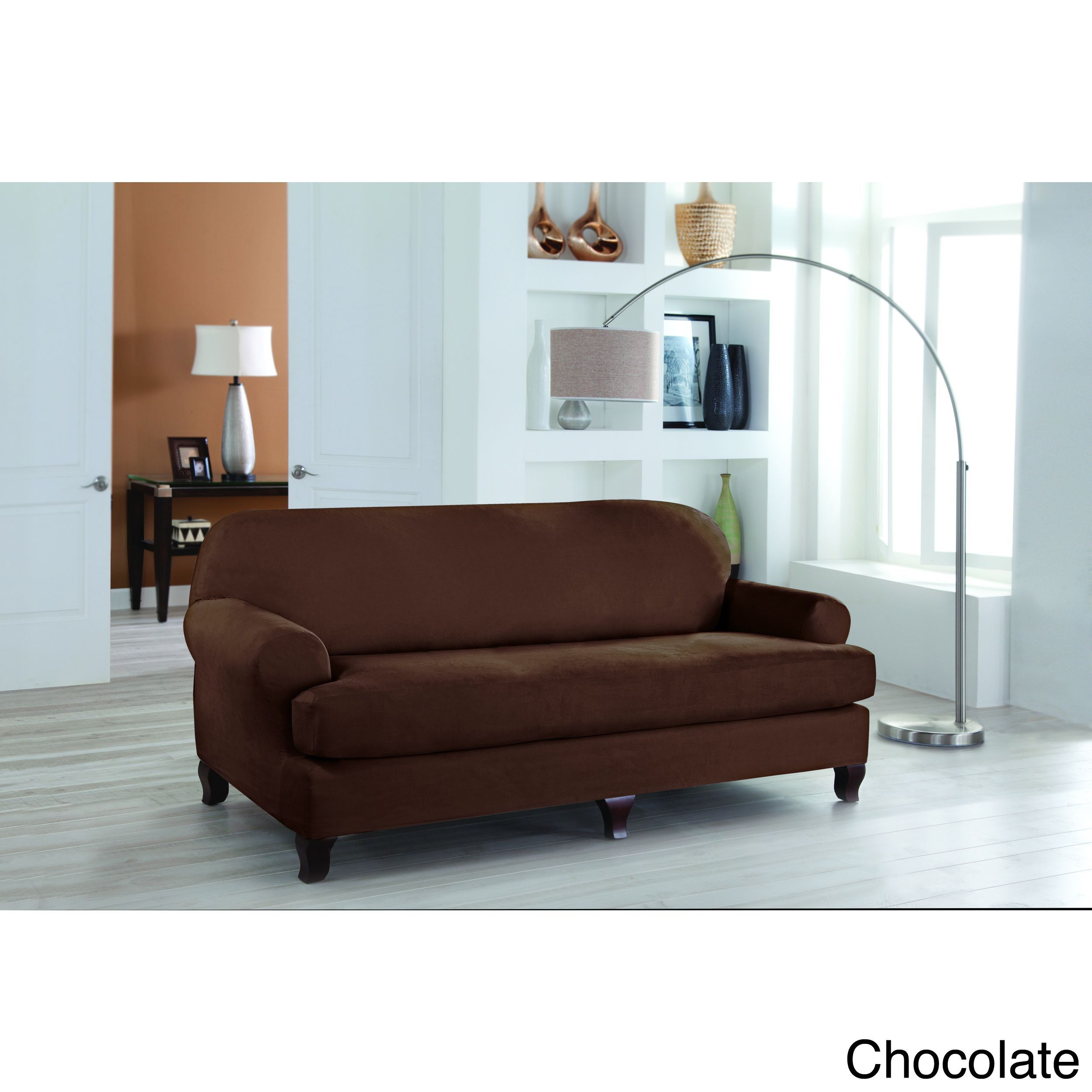 Tailor Fit Stretch Fit T Sofa Slipcover (2 Piece Set) By Tailor Fit