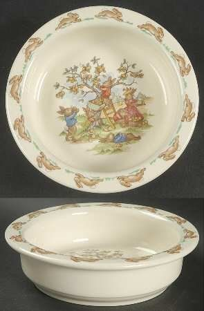"""Royal Doulton Bunnykins (Albion Shape) 6"""" Round Baby Plate, Fine China Dinnerware by Royal Doulton. $25.99. Royal Doulton - Royal Doulton Bunnykins (Albion Shape) 6"""" Round Baby Plate - Albion Shape, Rabbit Scenes"""
