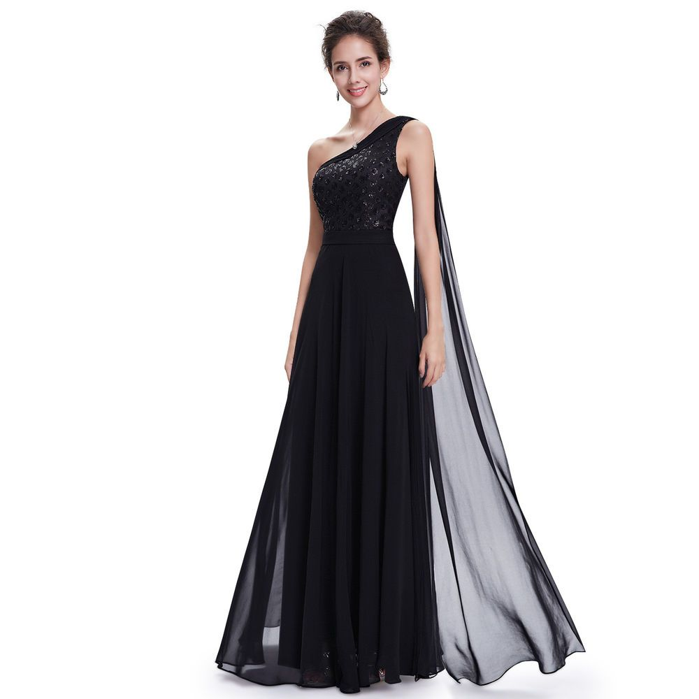 Ever pretty evening formal maternity gown one shoulder long party