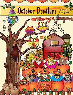 October Doodlers Clip Art Download Clip Art Dj Inkers Fall Clip Art