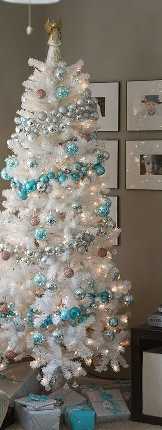 Winter Woodland Glam White Christmas Tree   Woodland animals, Christmas tree  and Decorating