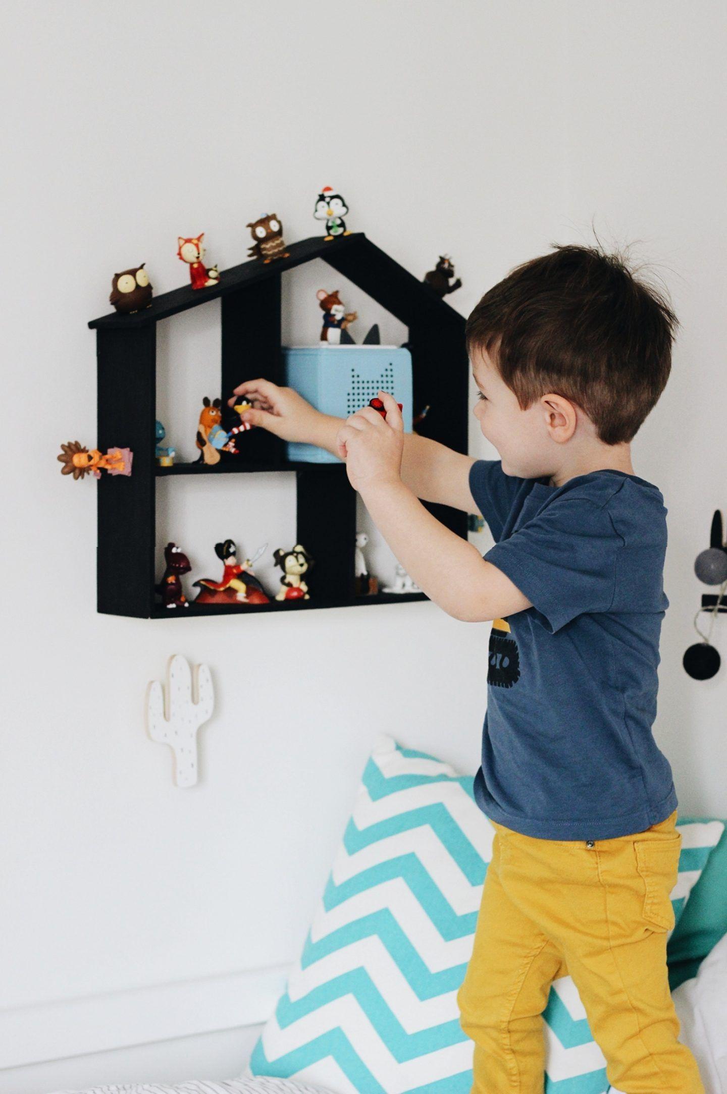DIY + KIDSLIFE    Selbstgemachte Aufbewahrung für Tonies: Toniehäuschen mit Magnetlack #rangementmaison