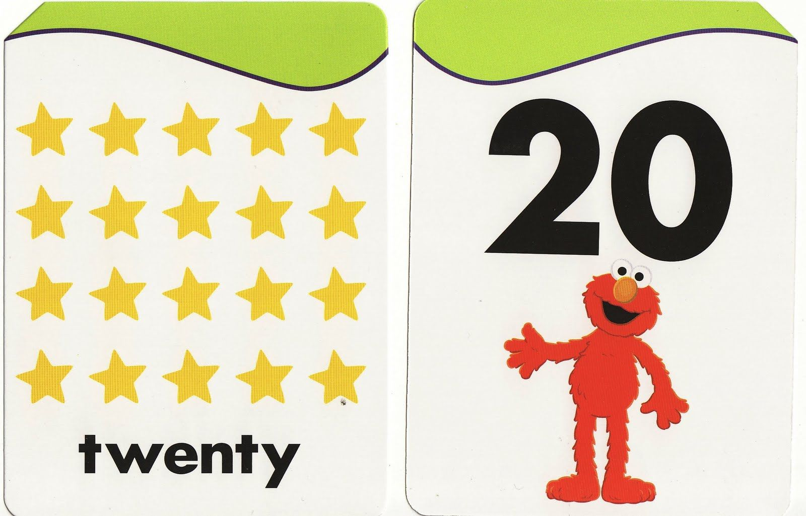 Images Of Number 20 Bk461 Sesame Street Flash Cards Numbers 1 20 Cards Flashcards Sesame Street