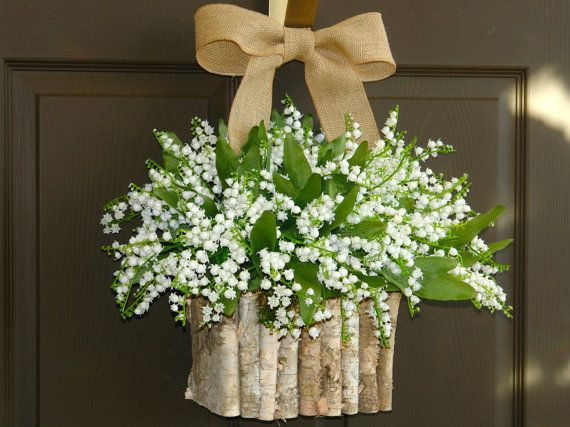spring summer wreaths white lily of the valley for front door ...