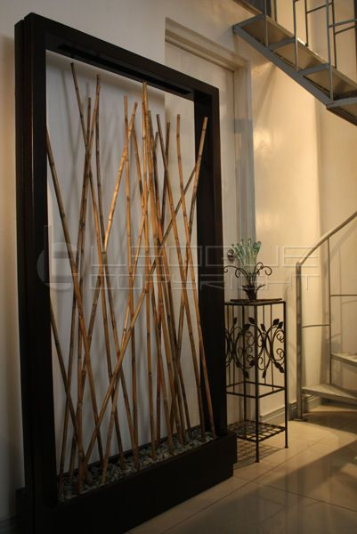 Bamboo Wall Art Ideas Bamboo Planter Room Divider Bare Wall