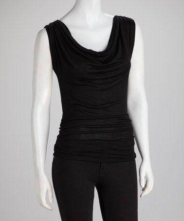 932fdc325e29c82f7ae00fc8af3eab4d bella d bella d black drape top,Bella D Womens Clothing