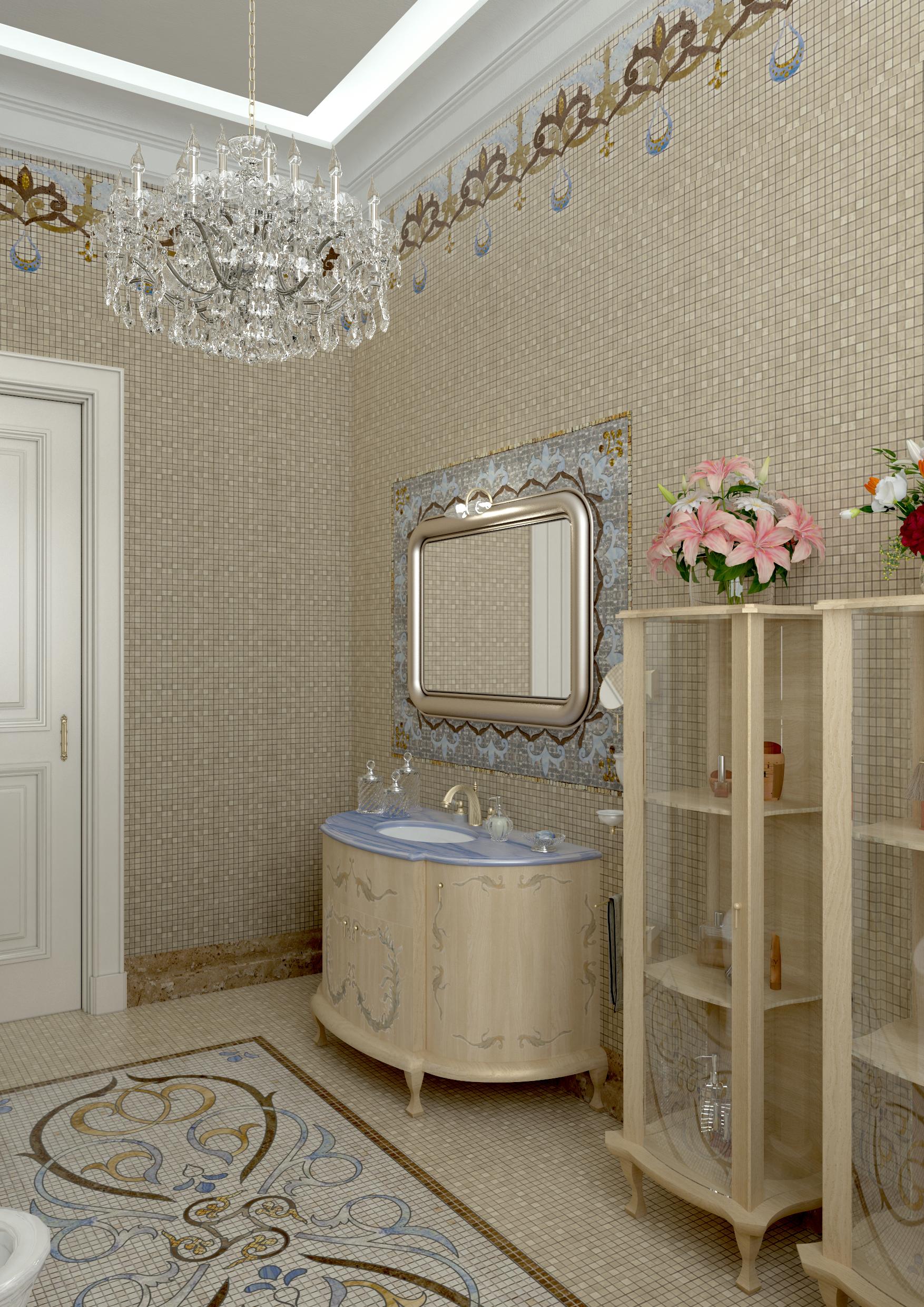 Bathroom T 09 Img002 Mosaico #Bathroom #Massimotrezziforniture Project By Massimo Trezzi Forniture