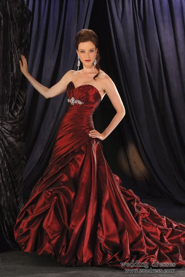 red wedding gowns for sale on Empire Waist A Line Dress On Sale Red ...