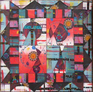Paint & Stitch: Vibrant Acrylic Quilts | Quilts, Painting ...