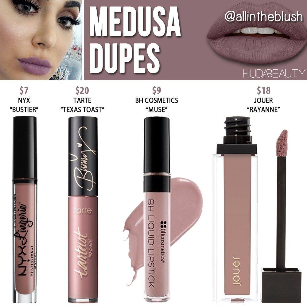 Huda Beauty Medusa Liquid Matte Lipstick Dupes – All In The Blush