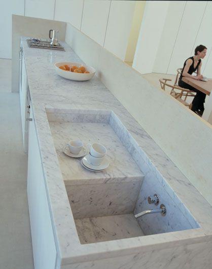 Hidden Sink Posted By Design Line Interiors Fregadero Bajo Encimera Decoracion De Cocina Diseno De Cocina