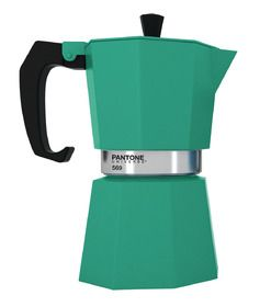 Pantone Coffee Maker Red : Emerald Green Pantone 569 Coffee Maker from Berry Red #cafetera italiana colores Cafeteras ...