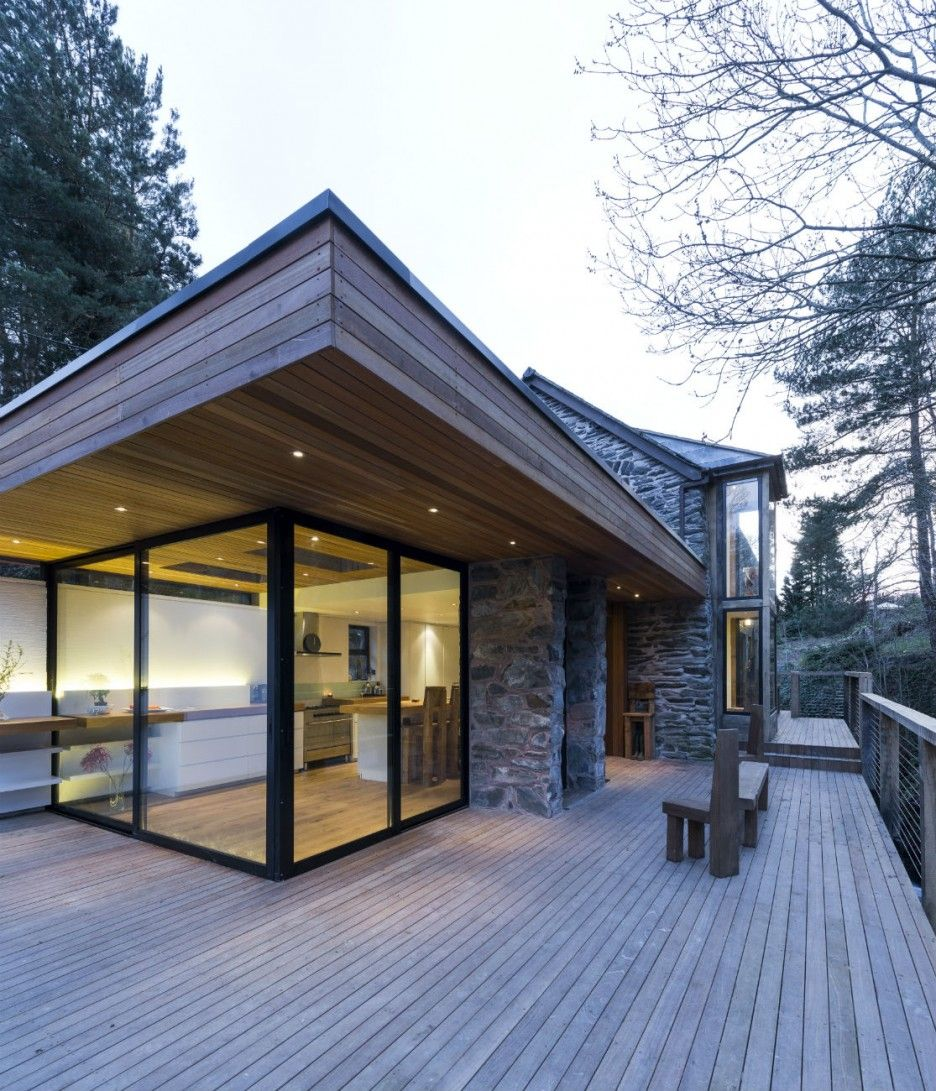 Unique Home Exterior Design: Unique Rustic Home Design To Your House: Modern Addition